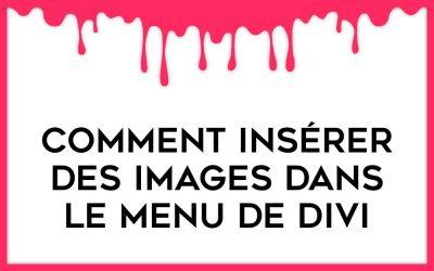 Comment insérer des images dans le Méga Menu de Divi