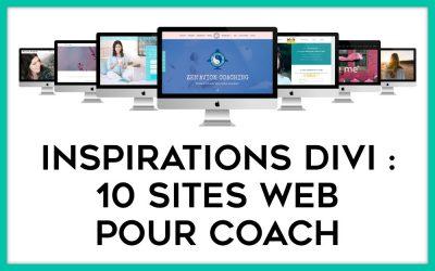 Inspirations : 10 exemples de sites de coaching faits avec Divi