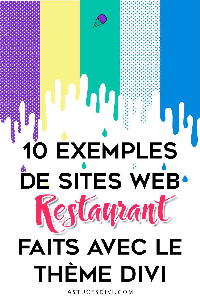 10 exemples de sites web restaurant faits avec Divi