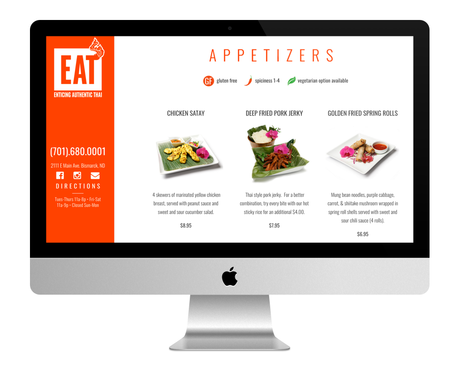 sites restaurant faits avec Divi : Eat
