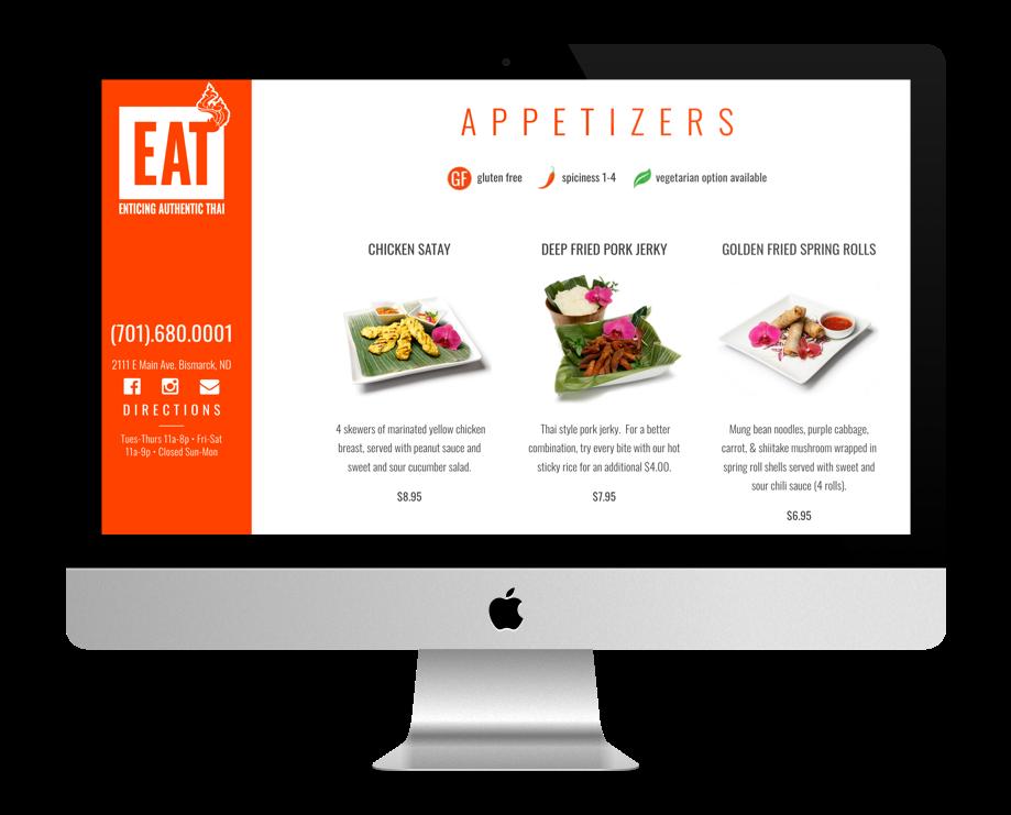 sites restaurant faits avec Divi : Eat