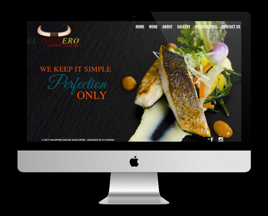 site restaurant fait avec Divi : El Torrero