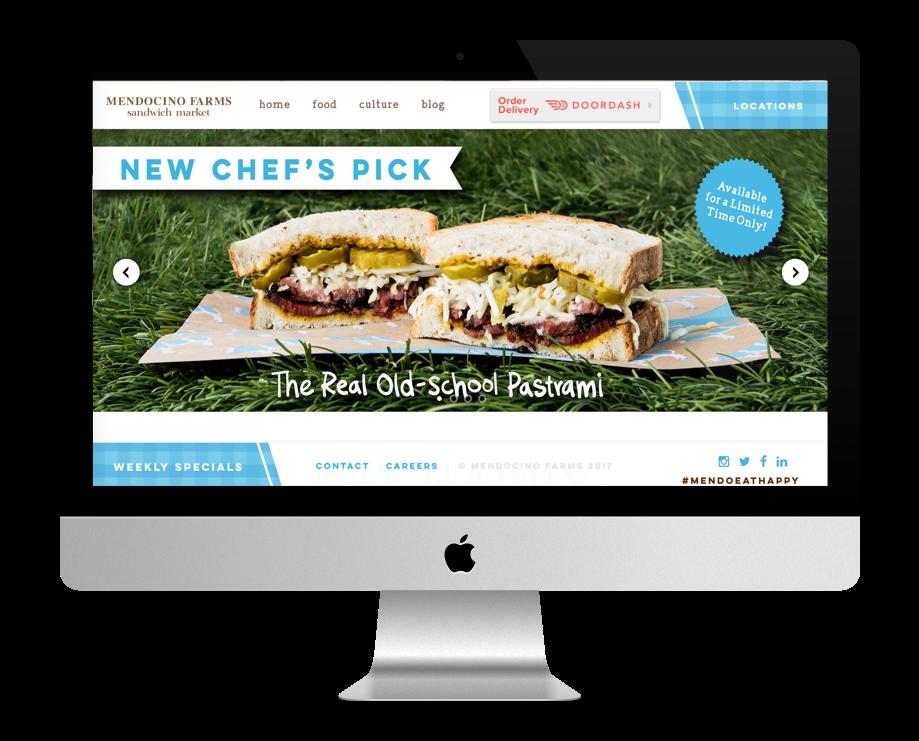 site restaurant fait avec Divi : Mendocino Farm