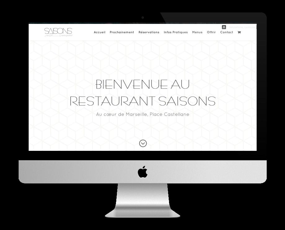 sites restaurant faits avec Divi : Restaurant Saisons