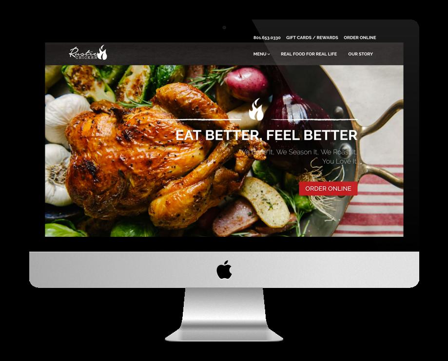 sites restaurant faits avec Divi : Rustic
