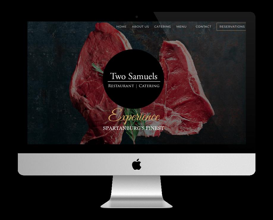 sites pour restaurant faits avec Divi : Two Samuels