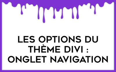 Focus sur l'onglet Navigation des options du thème Divi