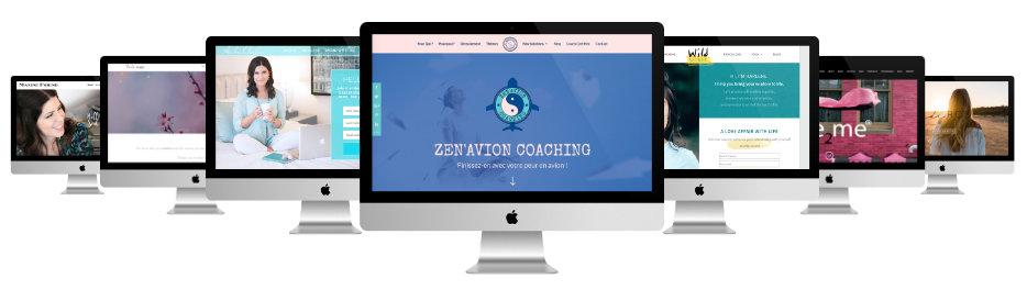 sites de coaching faits avec Divi