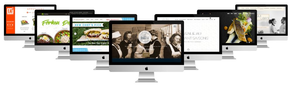 sites restaurant faits avec Divi