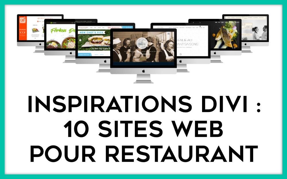 Inspirations : 10 exemples de sites pour restaurant faits avec Divi