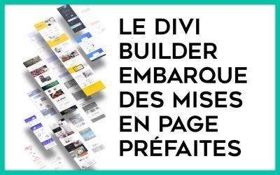 Layouts Divi : +1260 mises en page sont disponibles depuis le Divi Builder