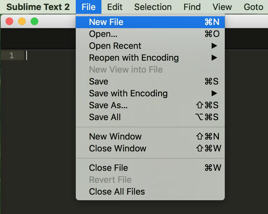 File - New File