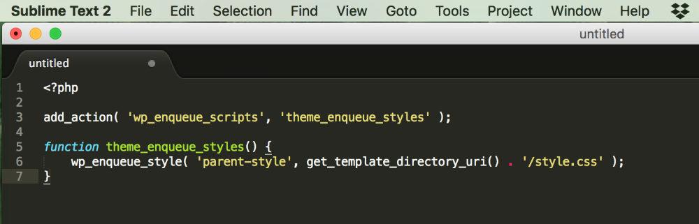 Code à insérer dans le fichier functions du thème enfant pour Divi