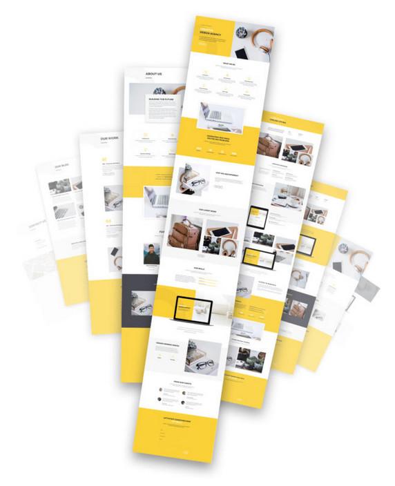 Des packs de layouts Divi