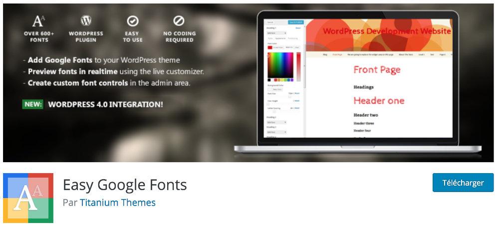 Plugin inutiles pour Divi : Easy Google Font