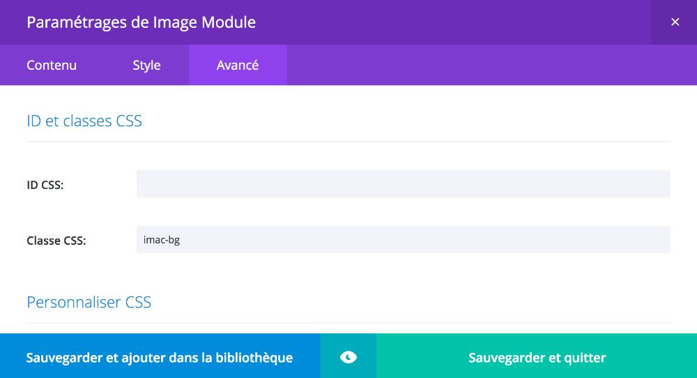 Ajout d'une classe CSS au module image