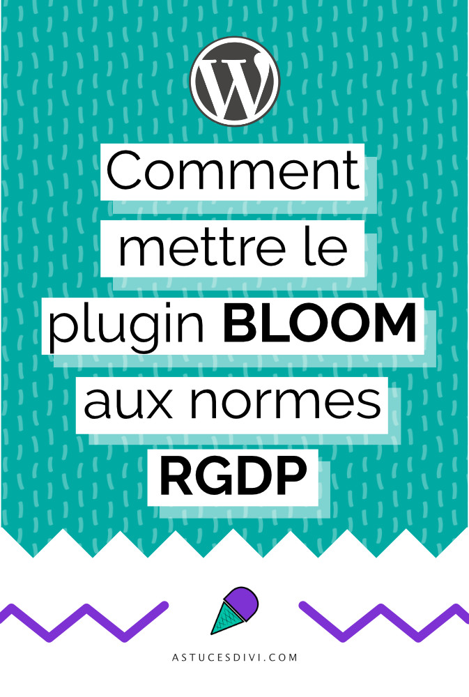 Make Bloom compatible with the RGPD