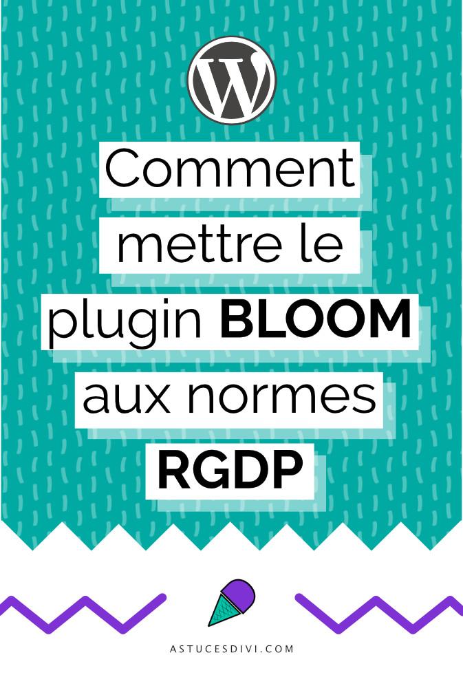 Rendre Bloom compatible avec le RGPD