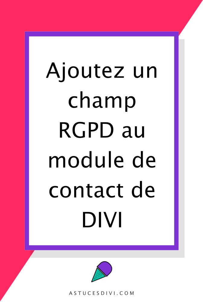 module formulaire de contact de Divi + RGPD