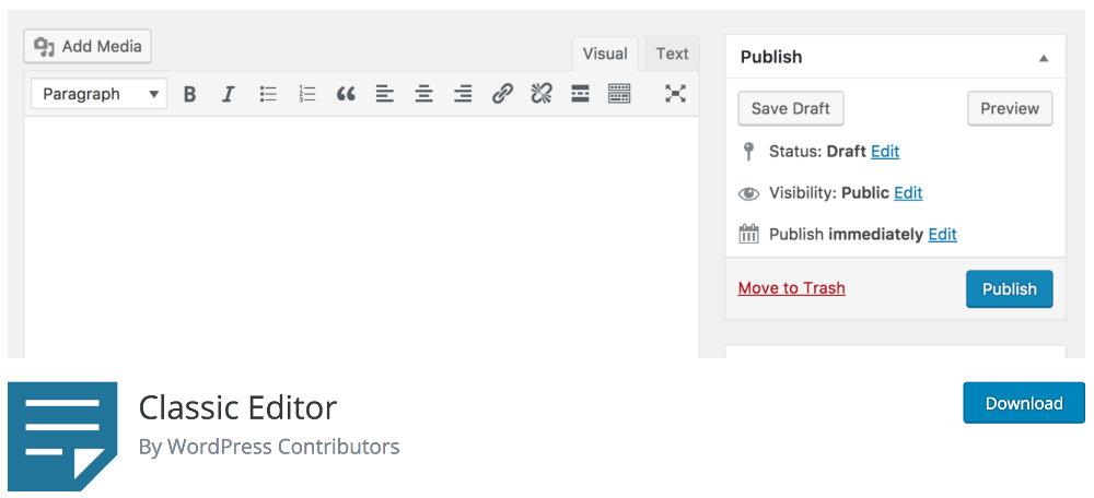 Plugin Classic Editor
