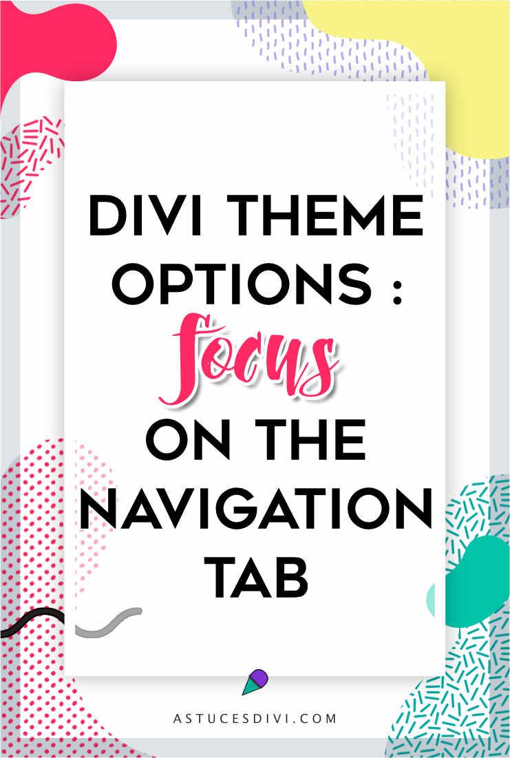 Divi tutorial : navigation tab