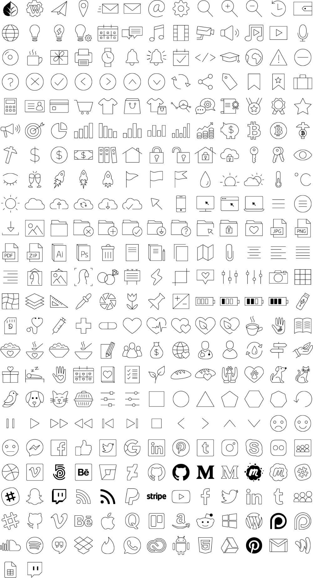300 icônes gratuits pour Divi