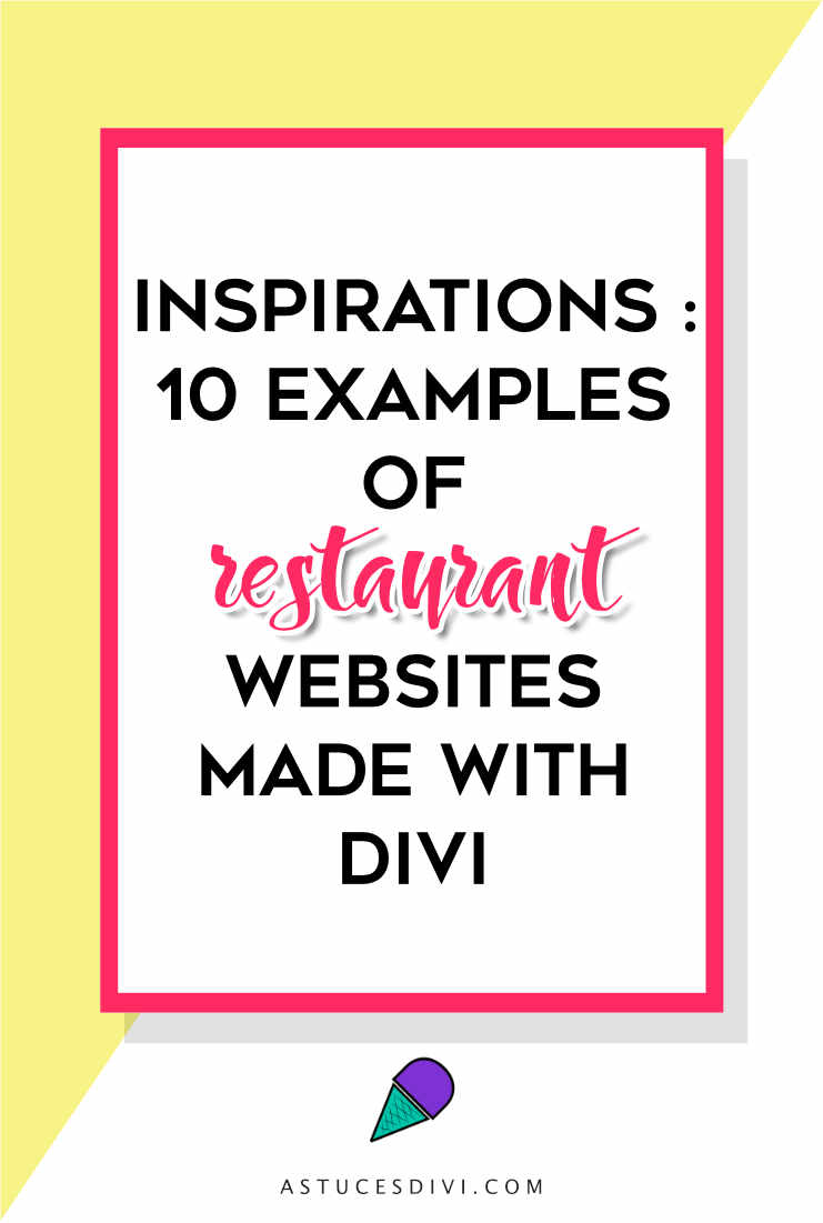 Divi tutorial : restaurant websites