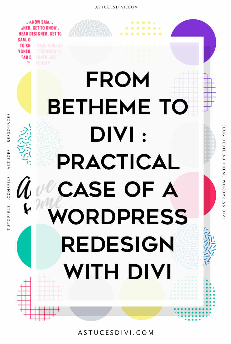 Divi tutorial : from betheme to Divi
