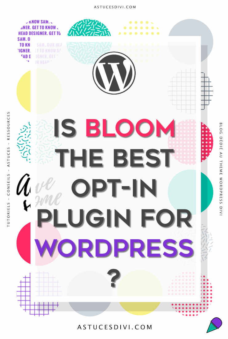 Divi tutorial : bloom