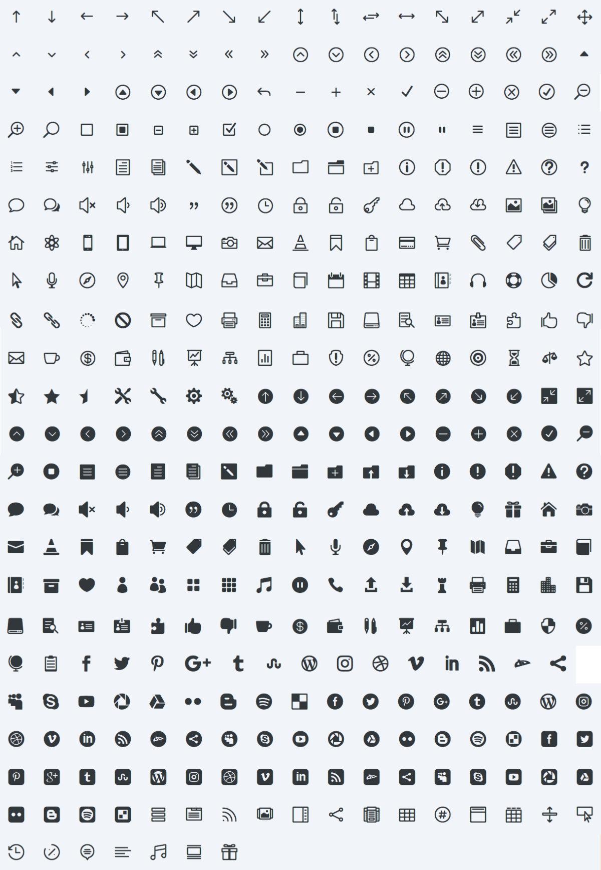 les 380 icônes de Divi