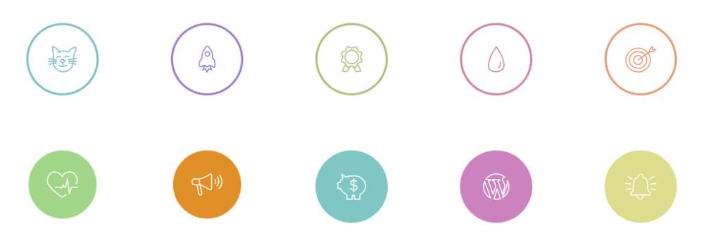 exemple d'icônes suplémentaires