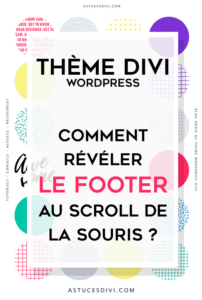 footer qui apparait au scroll