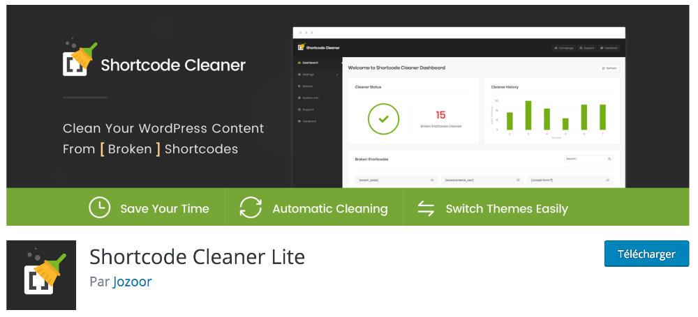 plugin shortcode cleaner lite