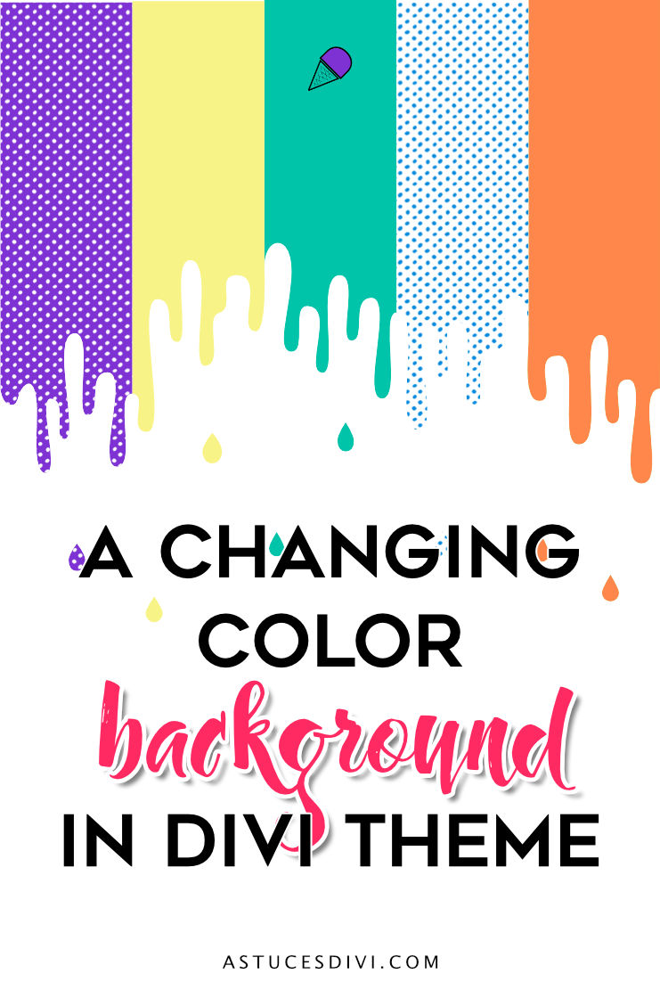 changing color background Divi