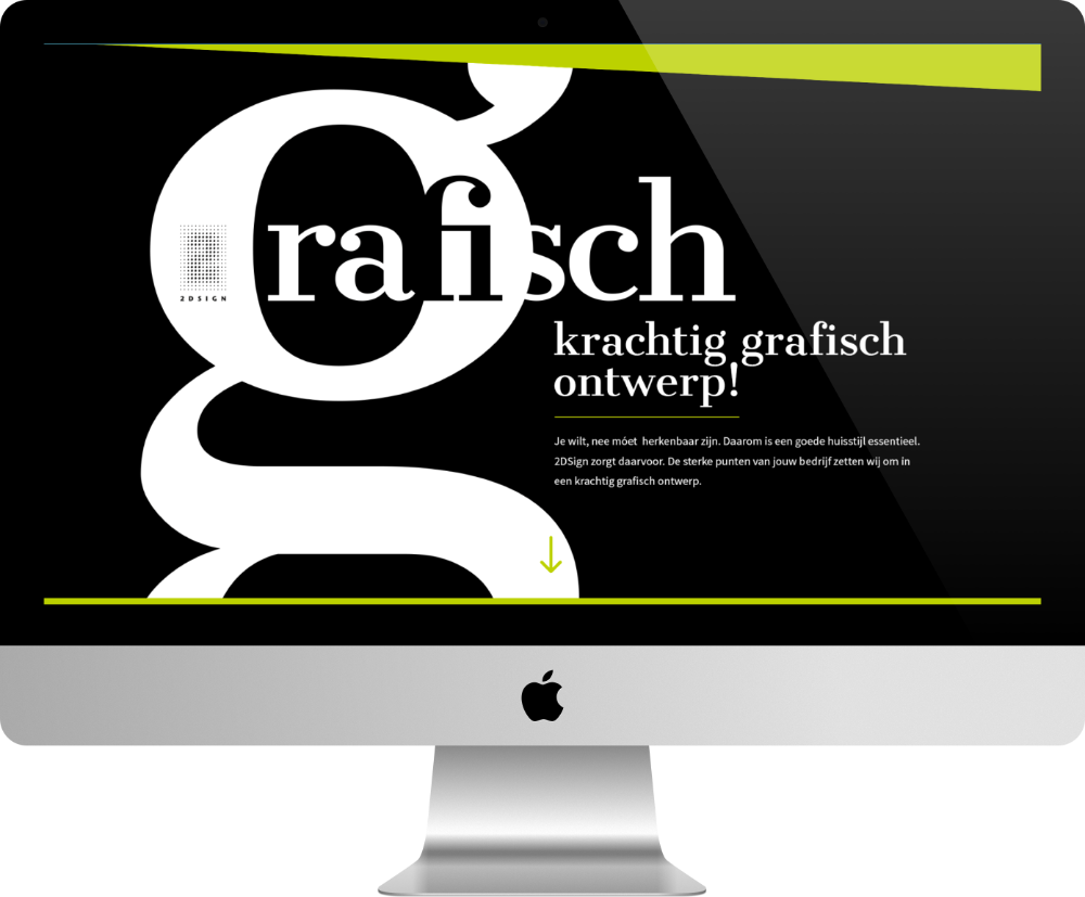 grafisch - site pour agence web fait avec Divi