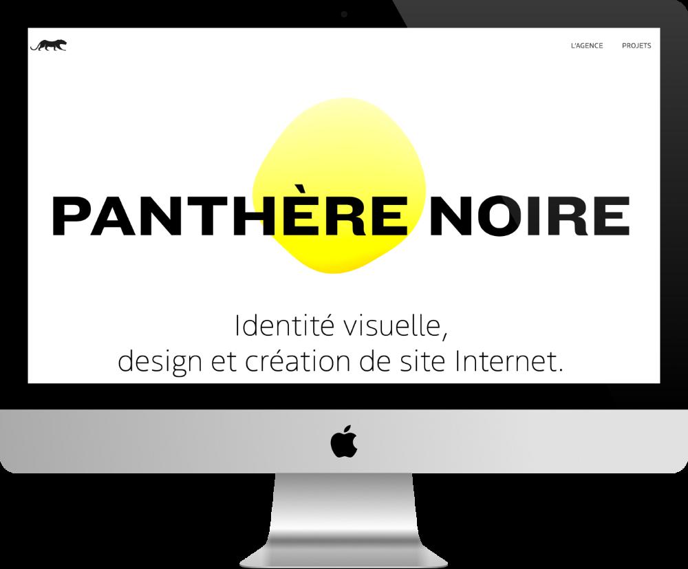 pantere-noire - site pour agence web fait avec Divi