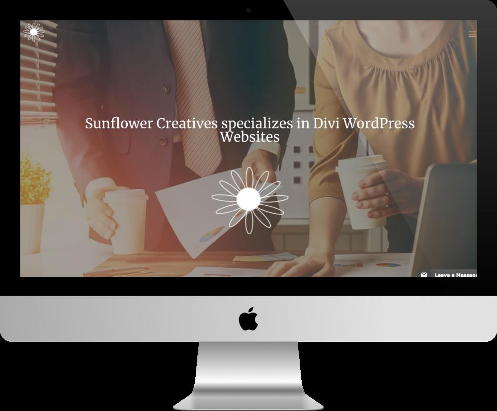 sunflower - site pour agence web fait avec Divi