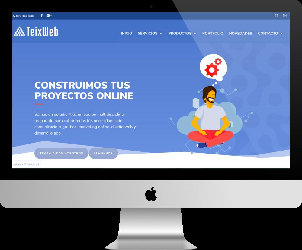 teixweb - site pour agence web fait avec Divi