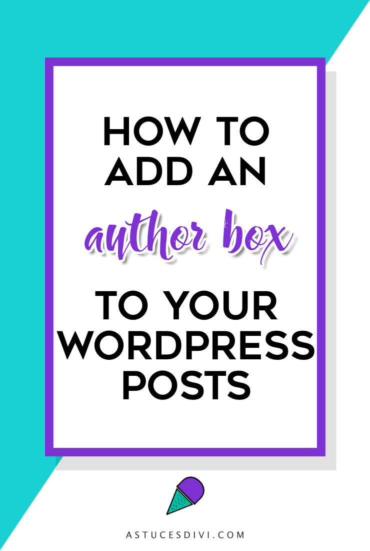 How to add an author box at the end of your blog post ?
