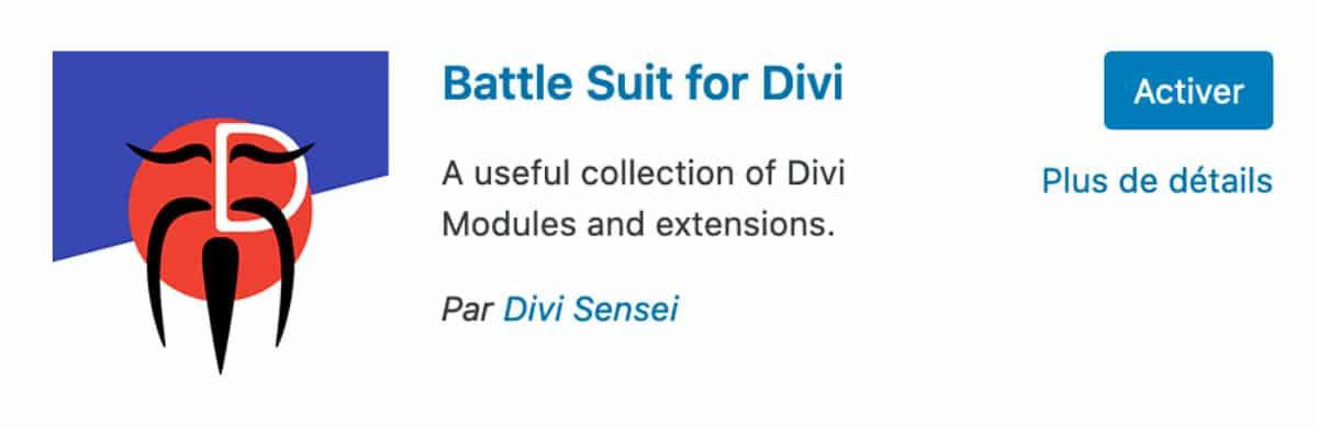Battle Suit For Divi