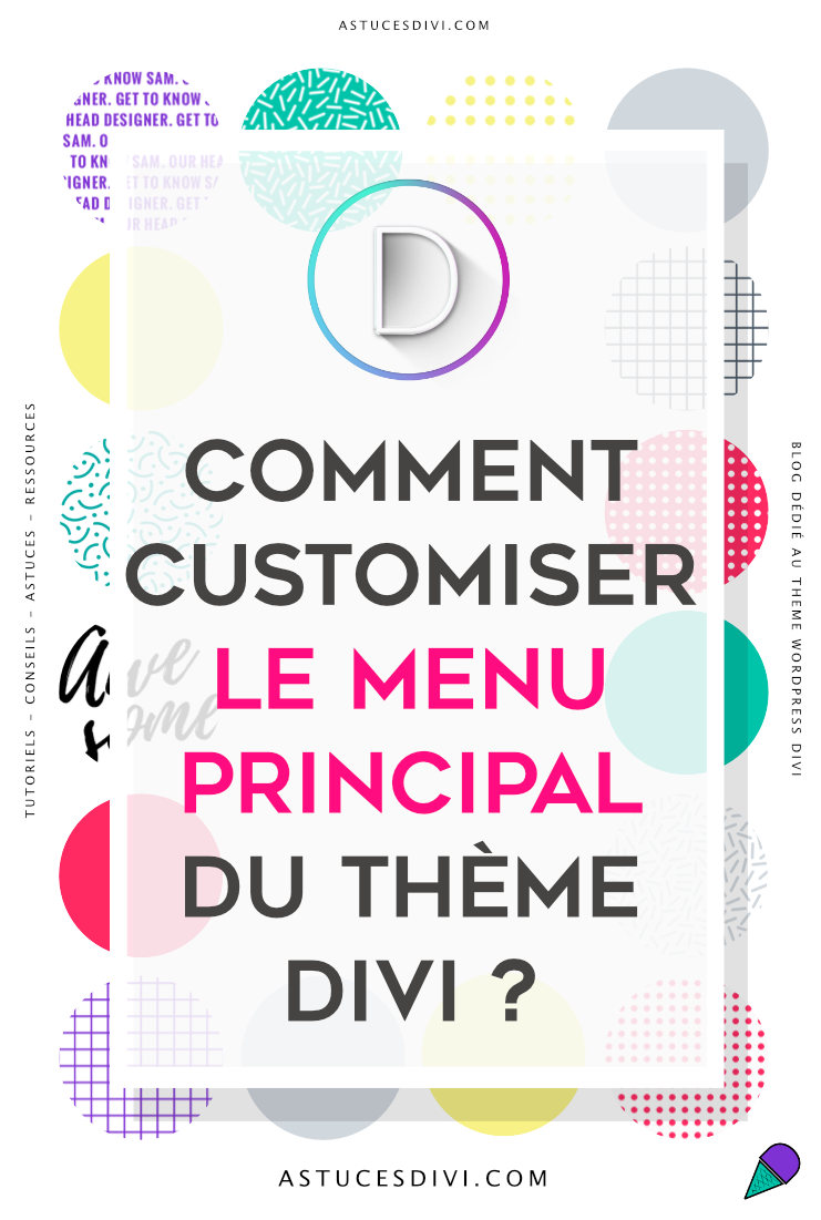 customisation du menu Divi