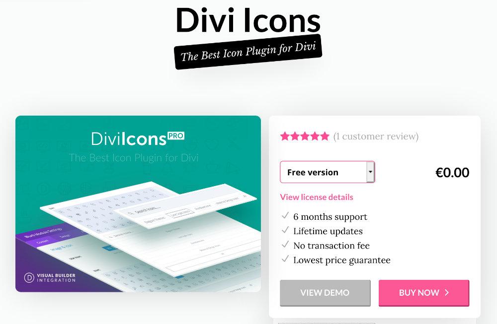Plugin gratuit Divi : Divi Icons