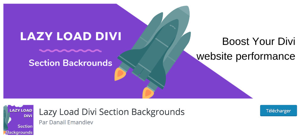 Plugin gratuit Divi : Divi Lazy Load