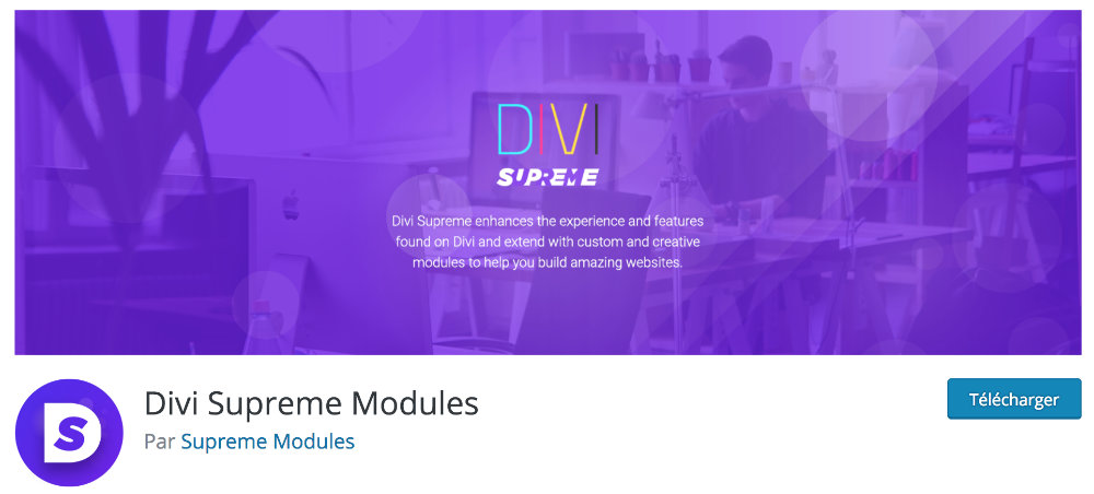 Plugin gratuit Divi : Divi Supreme Modules