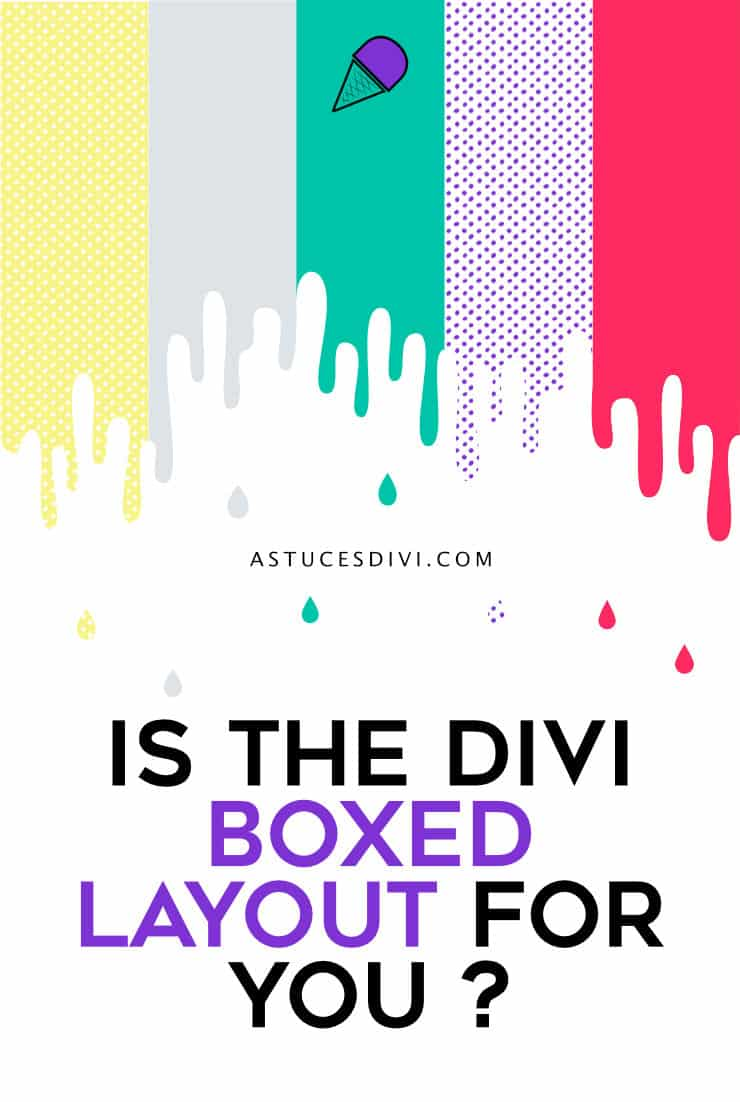 Divi boxed layout