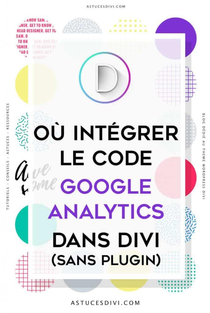 où insérer le code Google Analytics dans Divi