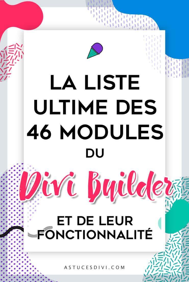 Les modules du Divi Builder
