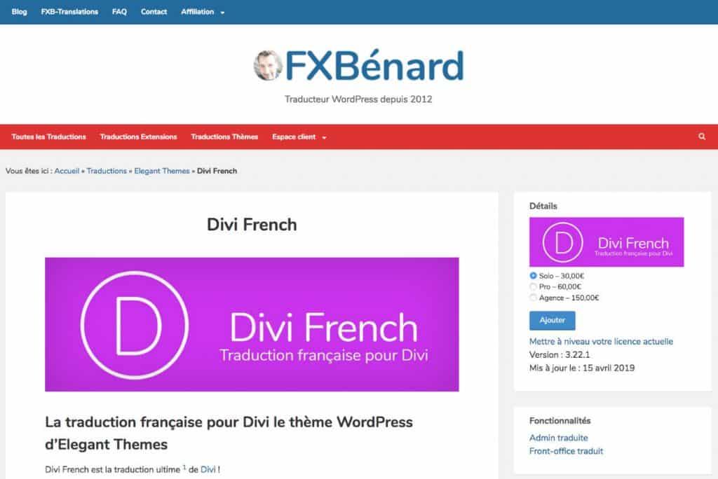 Divi French - Divi en français