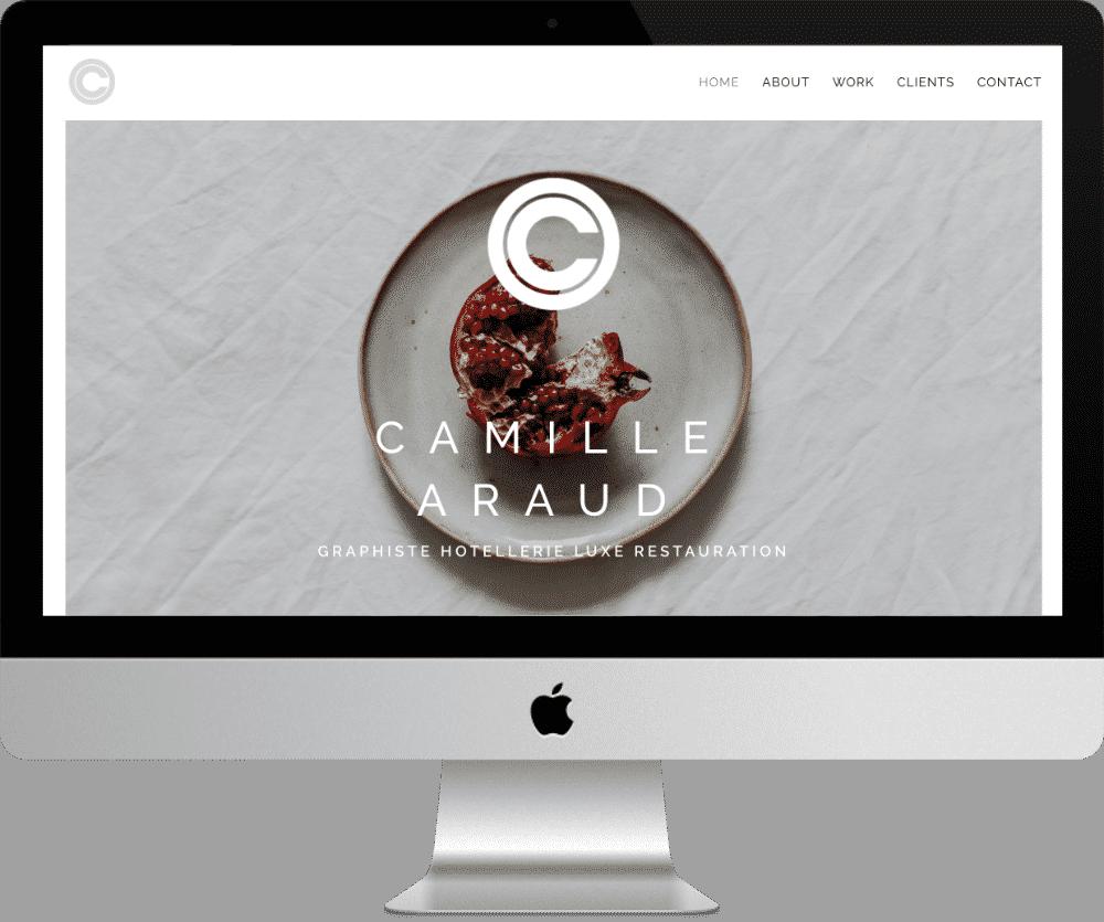 Site Camille Araud - webdesigner