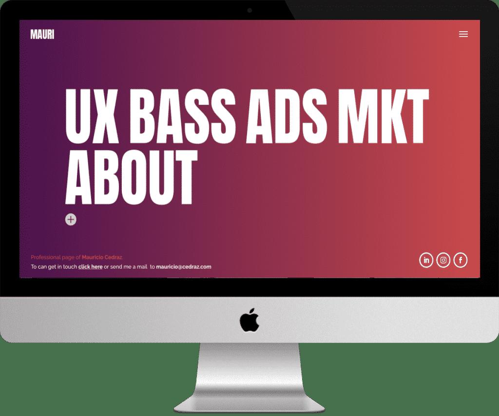 Site de graphiste et UX design Mauricio Cedraz